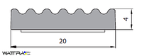 Универсальный уплотнитель Stomil Sanok с самоклеющейся лентой (Е-профиль , 15х4 мм черный) 100 м