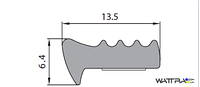 Универсальный уплотнитель Stomil Sanok с самоклеющейся лентой (Е-профиль , 13,5х6,4 мм черный) 100 м
