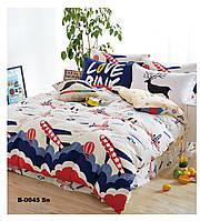 Полуторный комплект постельного белья сатин TM Bella Villa B-0045
