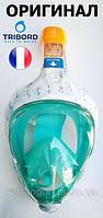 Повна маска для снорклінга Tribord Easybreath; розмір M-L; строката, світло-жовта (ОРИГІНАЛ)