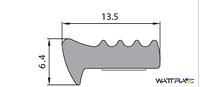 Универсальный уплотнитель Stomil Sanok с самоклеющейся лентой (Е-профиль , 13,5х6,4 мм коричневый) 100 м