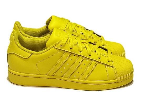 Кроссовки женские Adidas SUPERSTAR желтые, фото 2