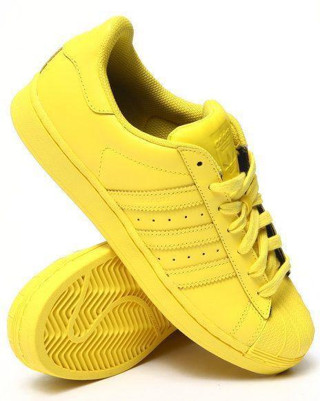 Кроссовки женские Adidas SUPERSTAR желтые