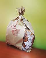 Бумажный пакет с боковым окном Пасха