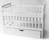 Детская кровать трансформер лодочка с ящиком цвет белий  DeSon