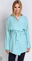 Женское демисезонное кашемировое пальто - кардиган на запах, оптом и в розницу