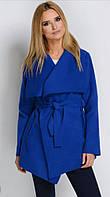 Яркое демисезонное пальто - кардиган на запах,  кашемир, оптом и в розницу