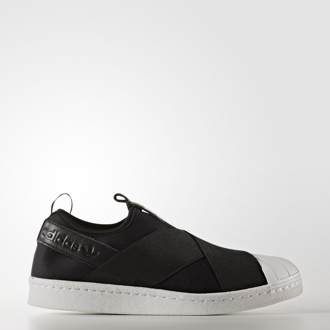 Кроссовки мужские Adidas SUPERSTAR слипон черные