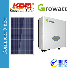 Сетевая солнечная станция 5 кВт