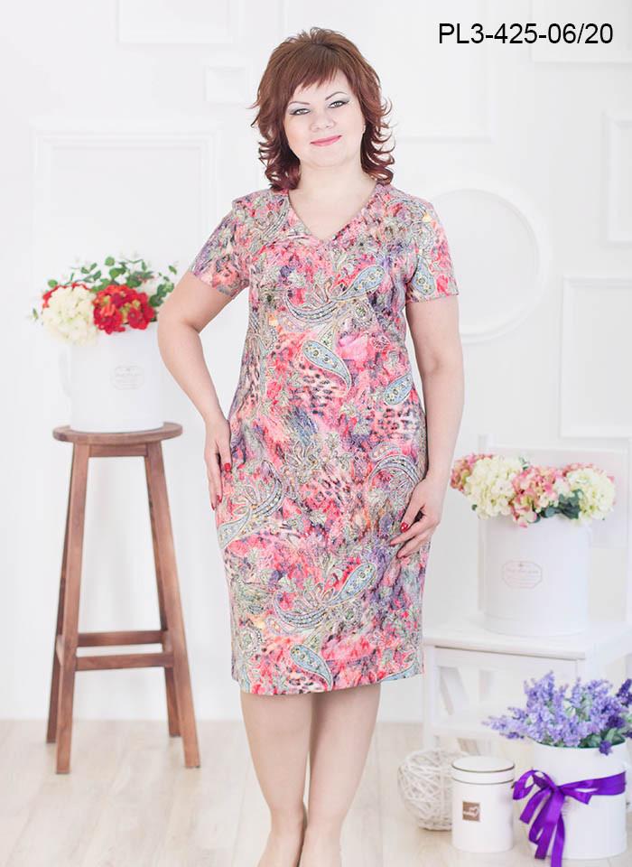 Женское платье из жаккардового полотна размер 54-60 / большого размера