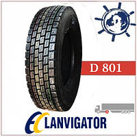 Шина 235/75R17.5 143/141J D801 LANVIGATOR ведуча, грузовые шины на ведущую ось грузовика, усиленные шины