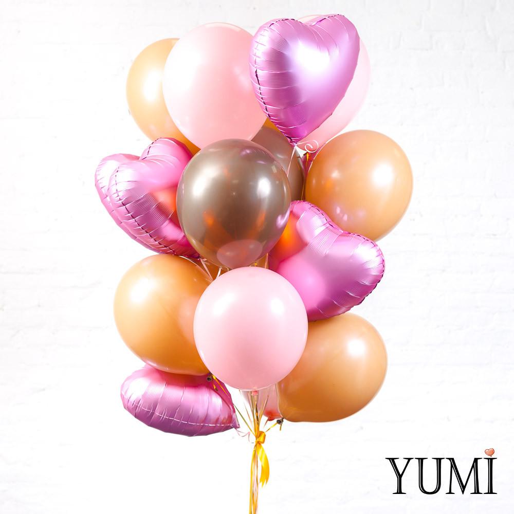 Облако из 20 шариков с гелием для девушки