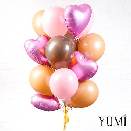 Облако из 20 шариков с гелием для девушки, фото 2