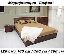 Кровать София с ящиками 1,4 орех темный (Микс-Мебель ТМ), фото 3