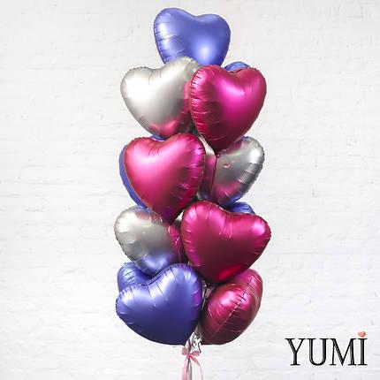 Композиция из 17 матовых шариков с гелием, фото 2