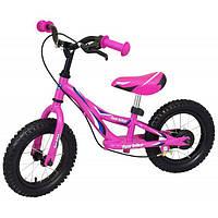 Беговел Alexis-Babymix WB006  розовый надувные колеса