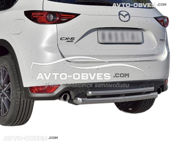 Захист заднього бампера для Mazda CX5 2017-... подвійна