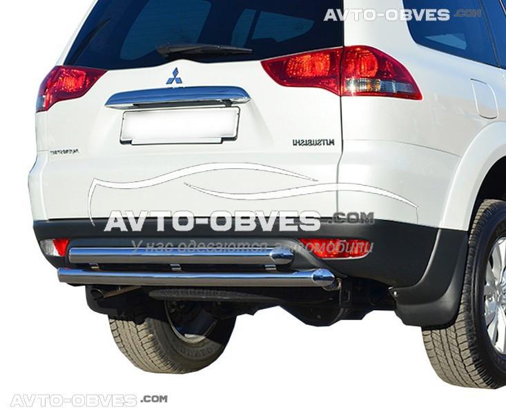Захист заднього бампера для Mitsubishi Pajero Sport подвійна