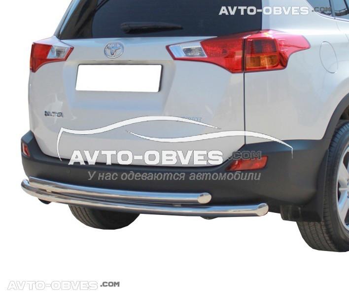 Защита заднего бампера для Toyota Rav4 2013 - 2016 двойной вариант