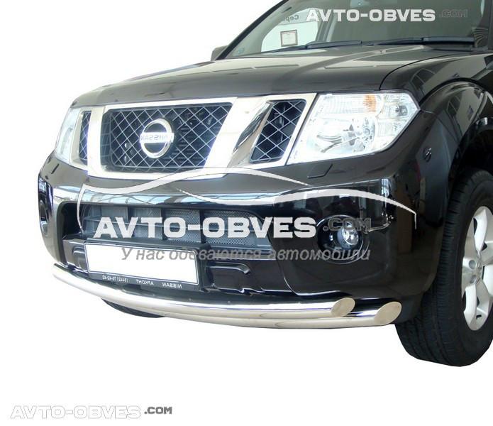 Дуга нижнего бампера двойная Nissan Pathfinder 10-15 удлиненный вариант