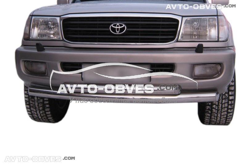 Дуга нижнего бампера двойная Toyota Land Cruiser 100