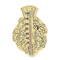 """Термометр для бани и сауны """"Веник"""" из дерева ИСП-6, фото 1"""