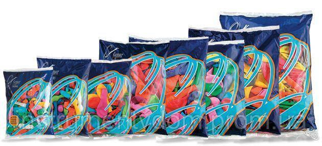 """Надувные шары неоновые Gemar Balloons GF90/81 (26 см/10"""", арт. 09811, упаковка 100 шт)"""