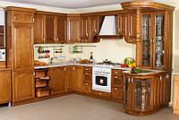 Кухня из натурального дерева нестандартная