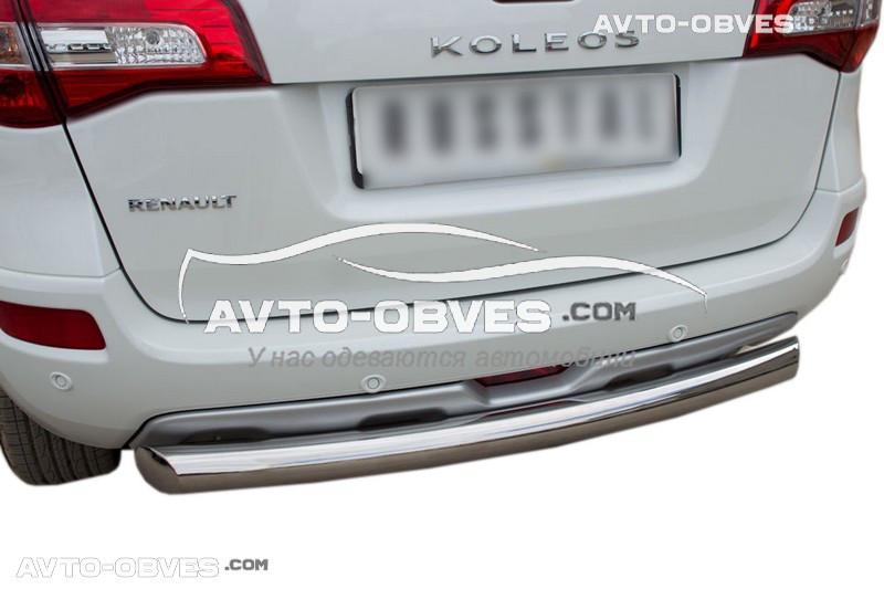 Защита заднего бампера Renault Koleos, труба прямая