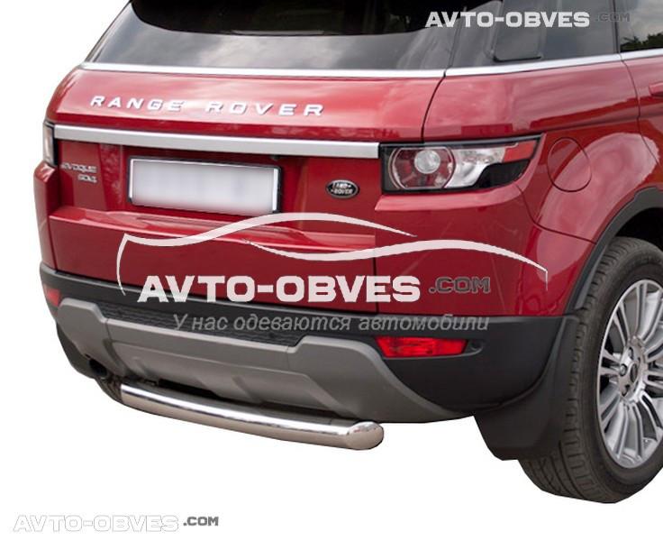 Защита заднего бампера Land Rover Evogue, труба прямая (Турция, под заказ 7-10 дней)