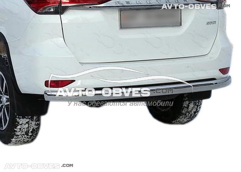 Защита заднего бампера Toyota Fortuner, труба прямая (Турция, под заказ 7-10 дней)