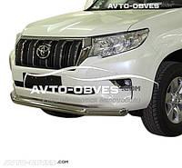 Защита переднего бампера одинарная для Toyota Prado 150 2018-... (Tamsan)