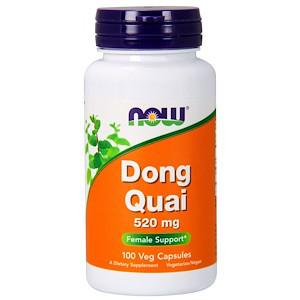 Now Foods, Дягиль лекарственный, 520 мг, 100 растительных капсул
