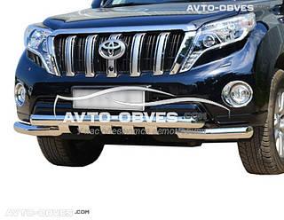 Нижняя защита переднего бампера Toyota Prado 150 2014-2018 (Tamsan)