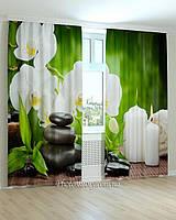 Фотошторы орхидеи и свечи