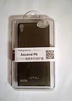 Чехол накладка Umku для Huawei Ascend P6 Черный