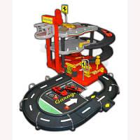 Игровой набор - Гараж FERRARI (3 уровня, 2 машинки 1:43), Bburago