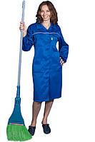 Халат рабочий ЛИДЕР-1, смесовая, женский, василек
