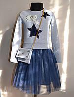 Нарядное детское платье для девочек с фатиновой юбкой, фото 1
