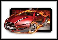 Фотообои 3D (флизелин, плотная бумага) 368х254 см : Красная машина в огне (294P8CN)