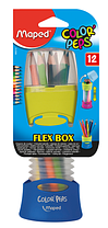 Карандаши цветные COLOR PEPS Flex Box, 12 цветов, раздвижной пенал, MP.683212