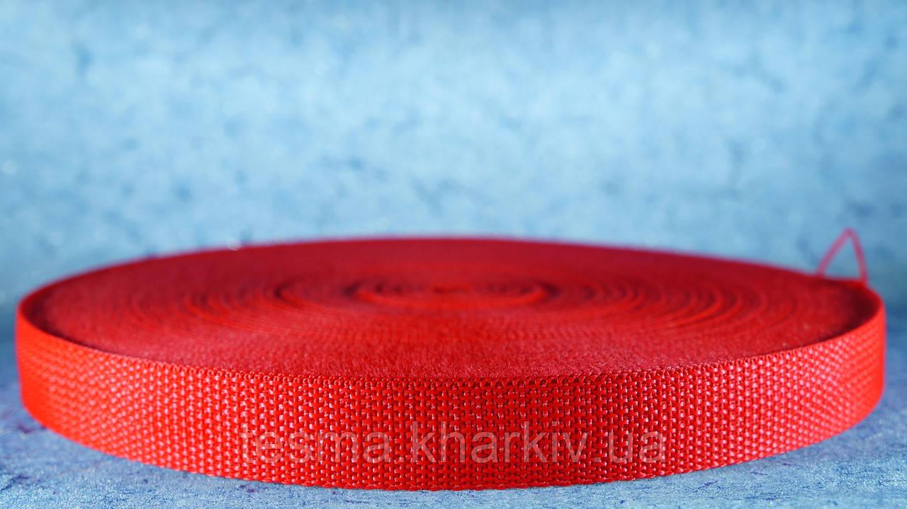 Ременная лента мягкая красный