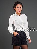 Блуза с круглым воротником молочный до 52р, фото 1