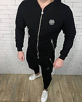 Спортивный костюм Philipp Plein D2753 черный с капюшоном