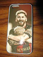 Чехол на IPhone 6+ с изображеним Месси и Неймара
