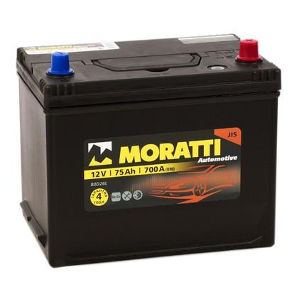 Аккумулятор Moratti 6СТ-75-АЗ (0) Asia