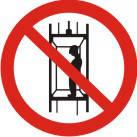 """Знак """"Запрещается подъем (спуск) людей по шахтному стволу (запрещается транспортировка пассажиров)"""""""