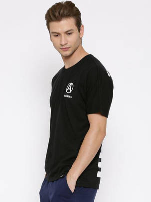 Футболка мужская стильная ADIDAS NEO BLACK CRCL LG, фото 2