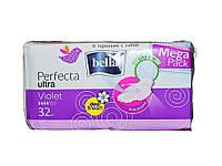 Прокладки гігієнічні 32шт.4 к.(Ultra Violet Deo Fresh Drainette) ТМBELLA