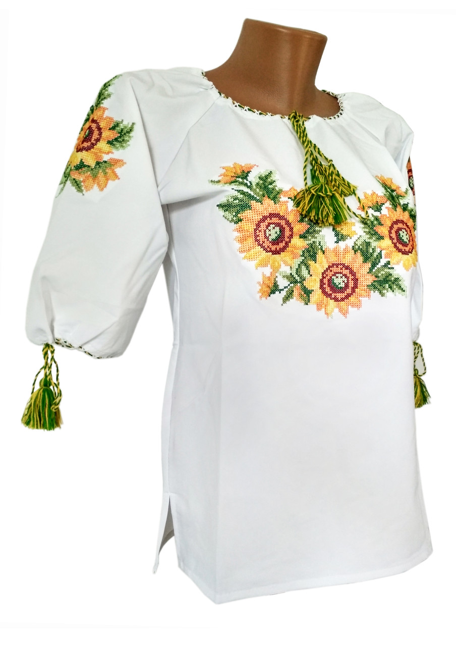 Сорочка вишиванка жіноча соняшники 41e59545940c0